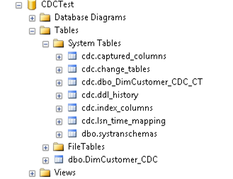 CDC tables