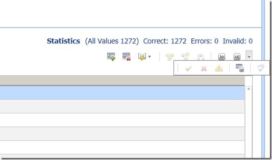 Domain Values Changes History panel button