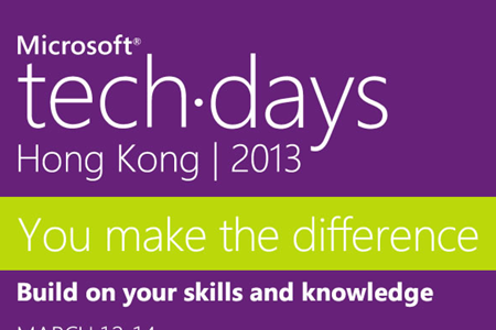 Presenting at Tech Days Hong Kong 2013