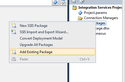 SSIS Quick Tip: Copy & Paste Packages into a Visual Studio Project