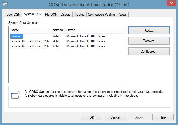 Using Hive ODBC from SSIS – Matt Masson