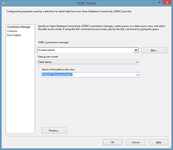 Using Hive ODBC from SSIS – Matt Masson