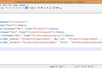 """Notepad++ language file for the Power Query formula language (""""M"""")"""